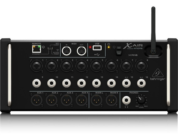 Mixer Dig. X-air Xr16 Ios/pc/android, 16in/6out Behringer