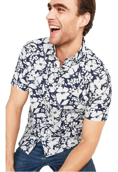 Camisa Hombre Casual Manga Corta Slim Fit 392376 Old Navy