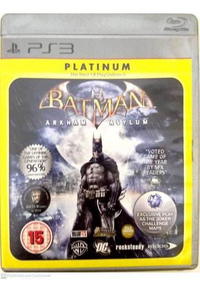 Batman Arkham Asylum - Ps3 - Usado - Original - Ps3bataa
