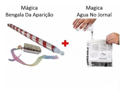 Kit Truques Bengala Da Aparição + Magica Agua No Jornal