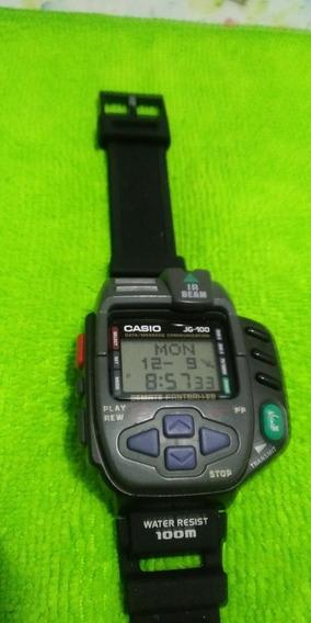 Relógio Casio Jg-100 Antigo Japonês Funcionando Perfeitament