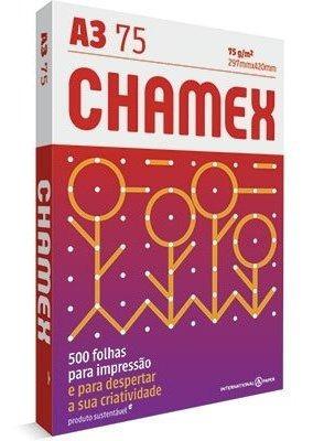 Papel Sulfite Chamex A3 75g 297mmx420mm Ipaperpt 500 Fl