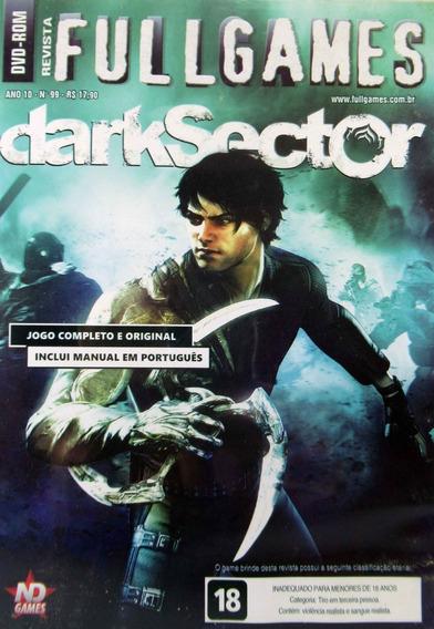 Jogo Dvd Pc Rom Dark Sector Sem Revista Full Games 99