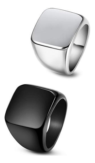 Anillo Roca De Titanio Pack 2 ( 1 Negro Y 1 Plateado ) Ixcra