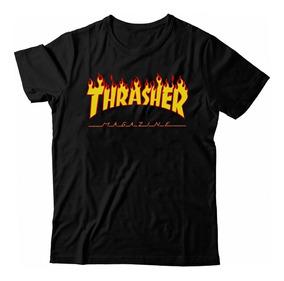 Camiseta Thrasher Flame Camisa Skate Lançamento + Brinde!!