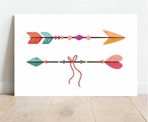 Placa Decorativa Em Mdf Flechas 30x40cm