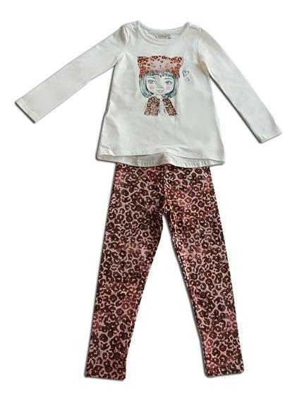 Conjunto Infantil Calça Legging + Camiseta Manga Longa