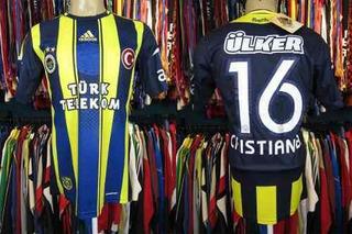 Fenerbahce 2012 Camisa Titular Tamanho M Número 16 Cristian.