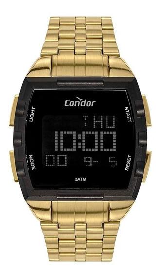 Relógio Condor Masculino Cobj2649ab/4d Dourado Preto Digital