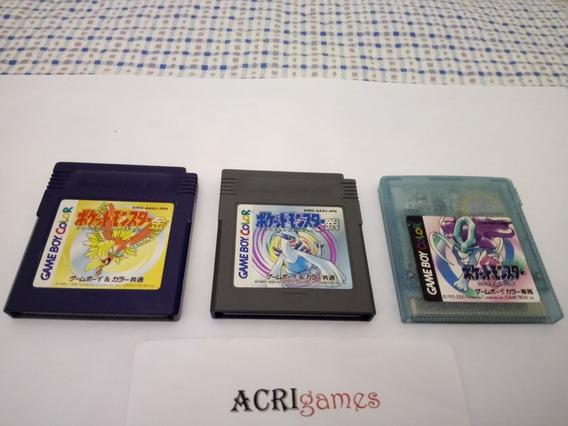Lote 03 Gameboy Color Pokemon Original Japonês