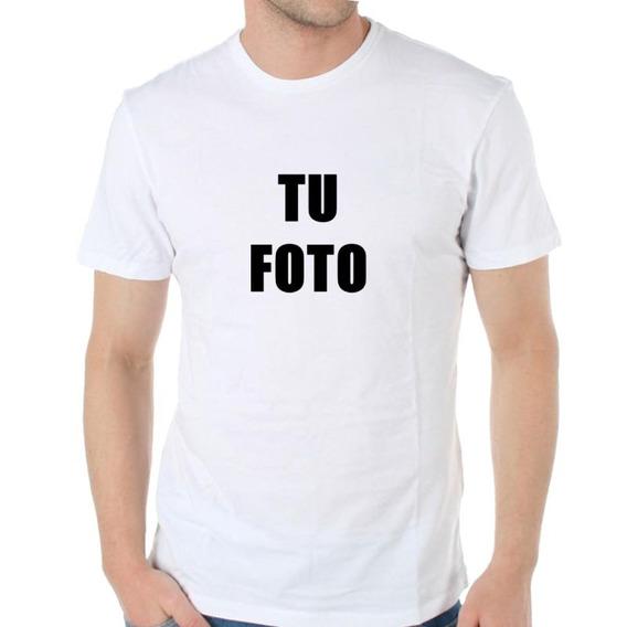 Remera Personalizada Con Tu Foto Familia Evento Logo M1