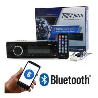 Radio Automotivo Bluetooth Som Mp3 Usb Sd 4x Rca Viva Voz P2