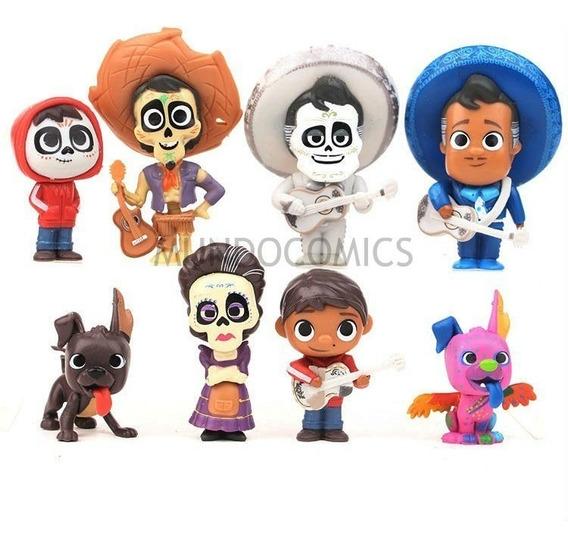 Colección De 8 Figuras De Personajes De Coco Disney 9cm