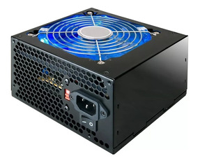 Fonte Gamer 420w Real Cooler Led Azul