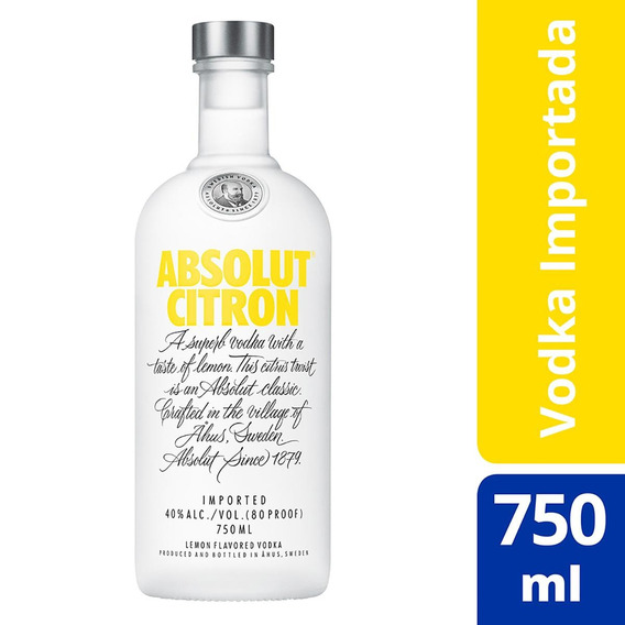 Vodka Sueca Absolut Citron - 750ml