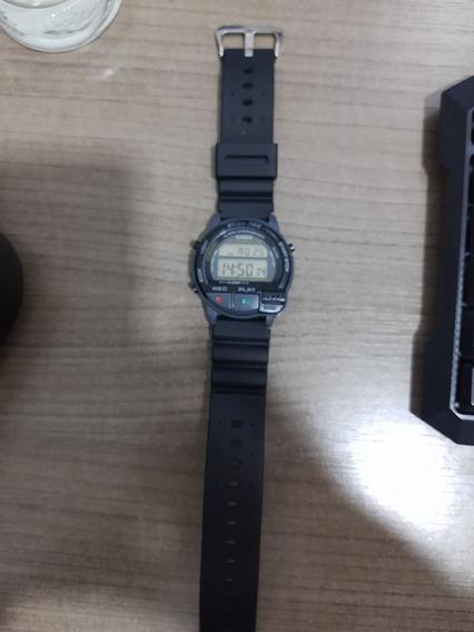Relógio Casio Easy Rec Funcionando Perfeitamente.