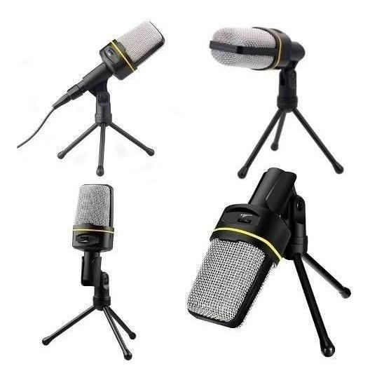 Microfone Com Fio Condensador Estudio Pc Cabo Xlr