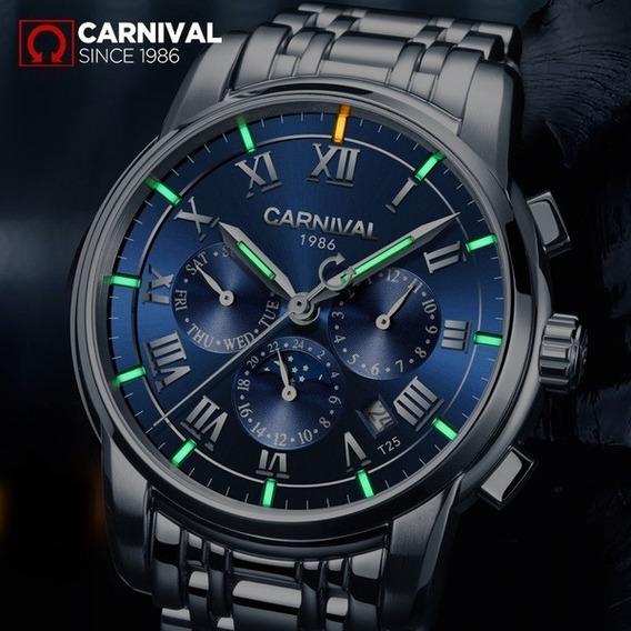 Relógio Carnival Original De Luxo Mecânico T25