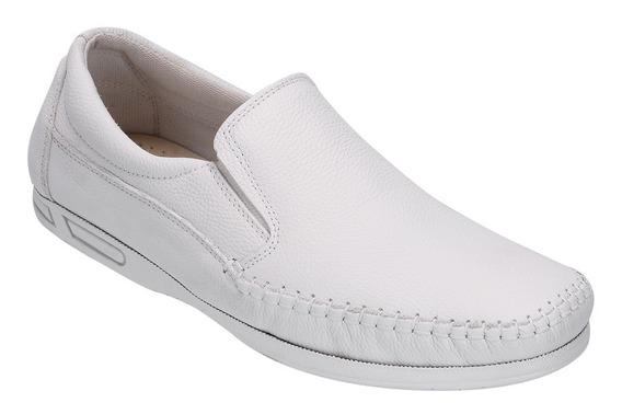 Sapato Masculino Dockside Sapatilha Bico Quadrado 100% Couro