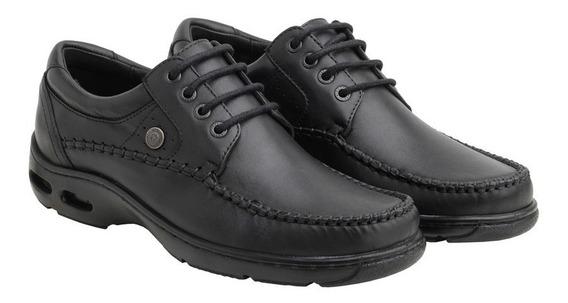 Zapato Ringo De Cuero Con Costura Y Burbuja-vader 10 Negro