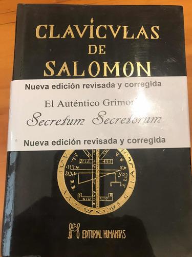 Imagen 1 de 1 de Claviculas De Salomon Y Alta Magia. 2 Libros. Ed Humanitas