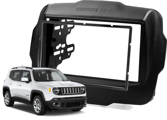 Moldura Painel Dvd 2 Din Multimidia Jeep Renegade Completa