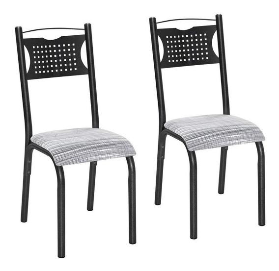 Conjunto 2 Cadeiras Aço Poeme Clássica Ciplafe Fbwt