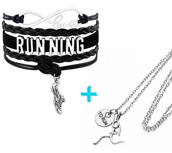 Combo Pulsera Love Running+ Collar Corredora