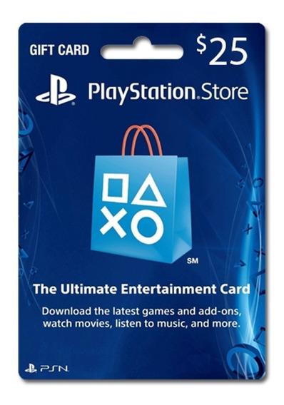 Tarjeta Psn 25 U$ Digital Usa   Entrega Inmediata - Gamer24hs