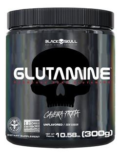 Glutamine 300 G - Caveira Preta - Black Skull