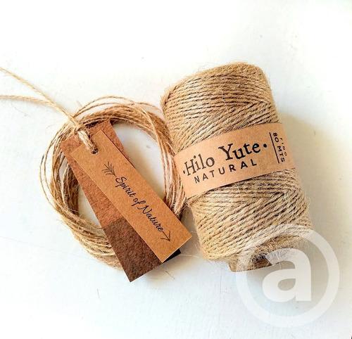 Hilo Yute Fino Natural 1mm Aprox / Bobina 80mts