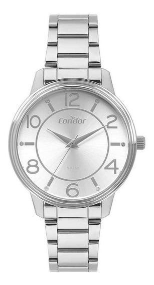 Relógio Kit Condor Feminino Prateado Co2035mou/k3k Barato!