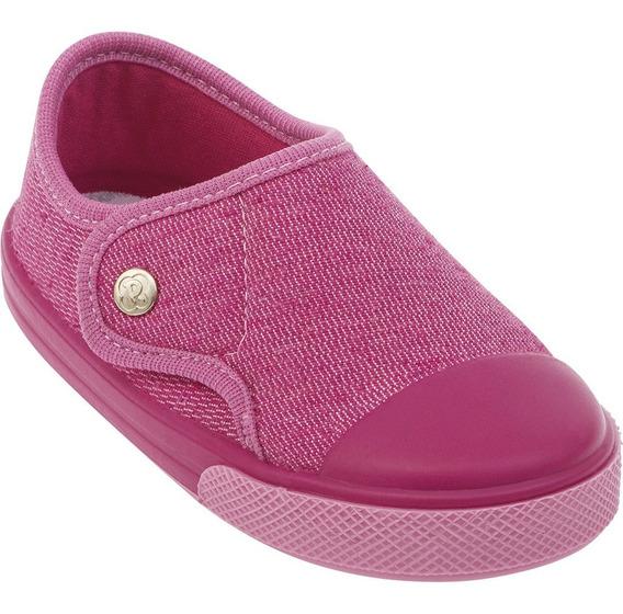 Tênis Sapato Feminina Rosa Infantil Pimpolho