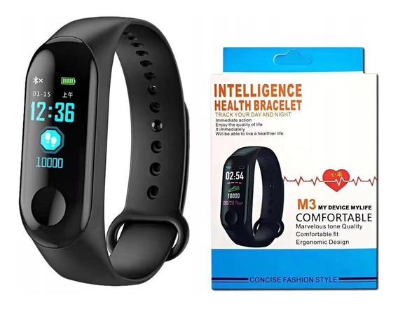 Relógio Inteligente Smartbandm3 Medidor De Pressão Arterial