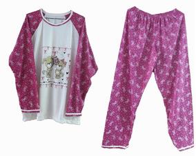 Pijama Feminino Inverno Adulto Roupa Dormir Longo Blusa Frio
