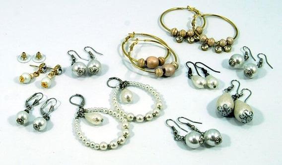 Combo De 10 Aros Con Perlas - Oferta