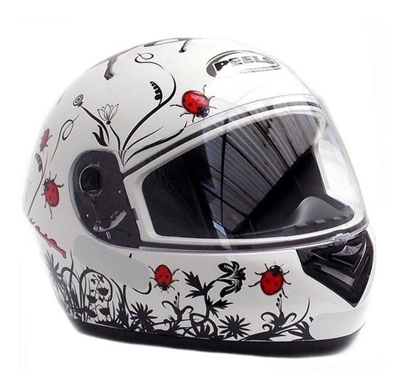 Capacete Feminino Peels Spike Ladybug Joaninha Fechado On Road - Branco / Vermelho