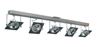 Plafon Moderno 5 Luces Acero Cromo Vidrio Apto Ar111 Led
