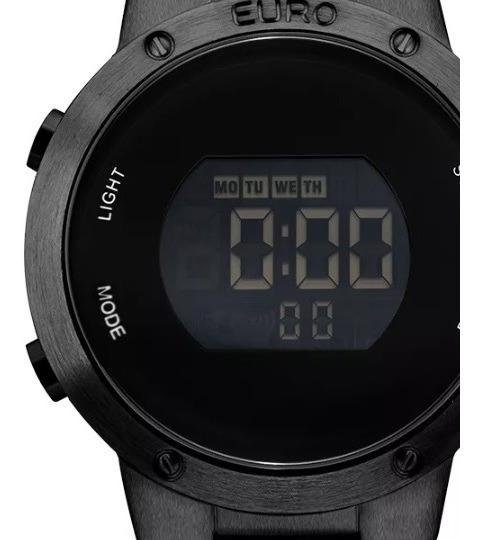 Relógio Euro Masculino Preto Digital Eubj3279ab/4p Com Nf-e