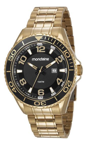 Relogio Masculino Mondaine Dourado Luxo 83414gpmvds2