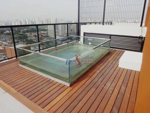 Cobertura Com 1 Dormitório À Venda, 140 M² Por R$ 980.000,00 - Mooca (zona Leste) - São Paulo/sp - Co0100