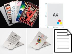 Impressão Preto Colorida P&b Xerox Folha Sulfite A4 Economia