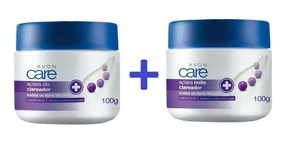 Kit Avon Care Creme Facial Aclara Dia + Noite 100g+100g