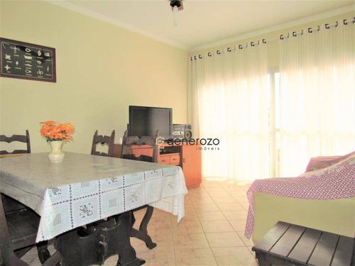 Apartamento À Venda Na Praia Das Astúrias, 02 Dormitórios, Com Sacada E Garagem - Ap0374