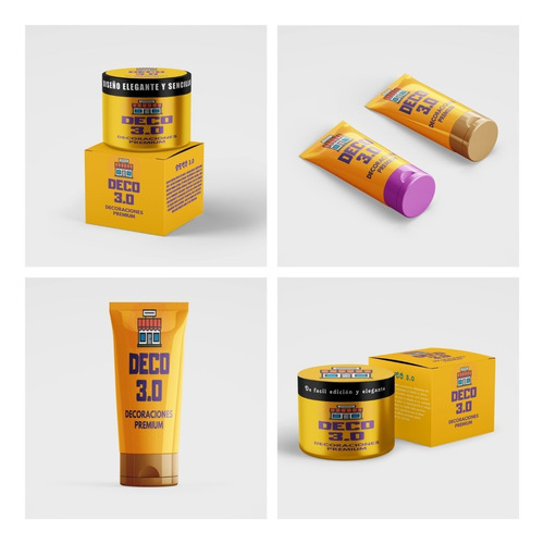 5 Mockup Envase Maquillaje Cosmeticos Crema Pomos Photoshop