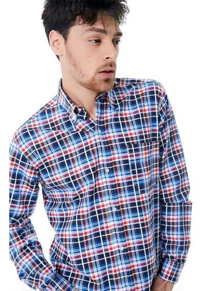 Camisa Sport Manga Larga Talles Especial 46 A 50