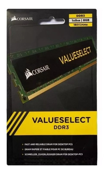 Memoria Ddr3 8gb Corsair 1600 Mhz Value Pc