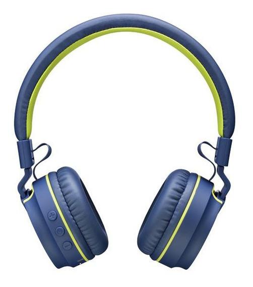 Fone De Ouvido Pulse Earphone Fun Amarelo/azul Bt/aux- Ph218