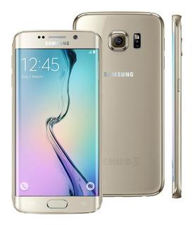 Seminovo - Smartphone Samsung S6 Edge - Dourado - Excelente