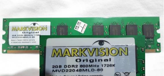 Memória Marksision 2gb Ddr2 800mhz- 1726k Mvd22048mld-80
